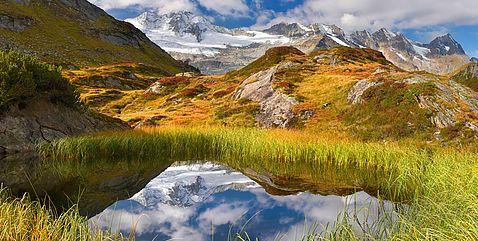 Sommer-Berglandschaft mit Spiegelung im Bergsee © Paul Sürth