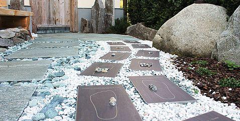Tile- & Stone-Barfußweg mit Platten für Fußreflexzonenmassage